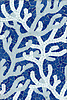 Coral, hand cut glass mosaic shown in Lapis Lazuli, Moonstone and Opal, is part of the Erin Adams Collection for New Ravenna.