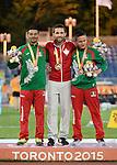 Guillaume Ouellet, Toronto 2015 - Para Athletics // Para-athlétisme.<br /> Guillaume Ouellet receives his Gold Medal for the Men's 1500m T13 // Guillaume Ouellet reçoit sa médaille d'or du 1500m T13 masculin. 12/08/2015.