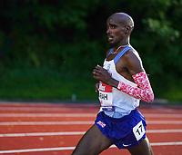 5th June 2021; Birmingham University Athletics Track, Birmingham, Midlands, England; European 10000 Metre Finals, British Olympic Trials 10000 Metre; Mo Farah mid race