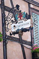 wrought iron sign marc kreydenweiss andlau alsace france