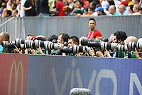 Jede Menge Fotografen am Spielfeldrand zur Weltmeisterschaft - 17.06.2018: Deutschland vs. Mexico, Luschniki Stadium Moskau