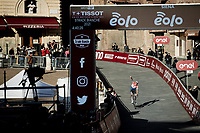 Mathieu Van der Poel (NED/Alpecin-Fenix) finishing victoriously at the Piazza del Campo in Siena<br /> <br /> 15th Strade Bianche 2021<br /> ME (1.UWT)<br /> 1 day race from Siena to Siena (ITA/184km)<br /> <br /> ©kramon