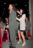"ARCHIVE: LAS VEGAS, NV. July 11, 1997: ""Hercules and Xena"" stars KEVIN SORBO and LUCY LAWLESS at the Video Software Dealers Assoc. convention in Las Vegas, where they announced the new Hercules & Xena animated adventures video.<br /> File photo © Paul Smith/Featureflash"