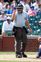 August 9, 2009: Home plate umpire Will Robinson during a Pacific Coast League game at Wrigley Field in Chicago, IL.  Photo By Mike Janes/Four Seam Images