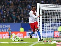 26.11.2017, Football 1. Bundesliga 2017/2018, 13. Match Day, Hamburger SV - TSG 1899 Hoffenheim, im Volksparkstadion Hamburg. Jubel Torschuetze Gideon Jung (Hamburg) celebrates scoring to 3:0 *** Local Caption *** © pixathlon +++ tel. +49 - (040) - 22 63 02 60 - mail: info@pixathlon.de<br /> <br /> +++ NED + SUI out !!! +++