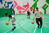 After-school basketball training session at the new Westminster Academy  Sport Centre, Harrow Road.