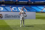 Mariano Diaz during his Official presentation at Estadio Santiago Bernabeu in Madrid, Spain. August 31, 2018. (ALTERPHOTOS/A. Perez Meca)