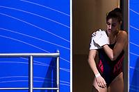 GILLET Nais FRA<br /> 3m Springboard Women Preliminary<br /> Diving<br /> Budapest  - Hungary  15/5/2021<br /> Duna Arena<br /> XXXV LEN European Aquatic Championships<br /> Photo Giorgio Perottino / Deepbluemedia / Insidefoto