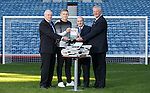 The penalty kings - Martyn Waghorn and Johnny Hubbard with team-mate Harold Davis and author David Mason