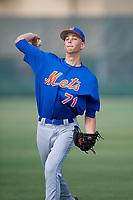 GCL Mets pitcher Liam McCall (71) during practice before a game against the GCL Cardinals on July 23, 2017 at Roger Dean Stadium Complex in Jupiter, Florida.  GCL Cardinals defeated the GCL Mets 5-3.  (Mike Janes/Four Seam Images)