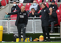 Preston North End Manager, Alex Neil has a difference of opinion with Brentford Manager, Thomas Frank during Brentford vs Preston North End, Sky Bet EFL Championship Football at the Brentford Community Stadium on 4th October 2020