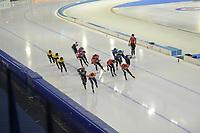 SCHAATSEN: HEERENVEEN: 13-01-2021, IJsstadion Thialf, ISU European Speed Skating Championships, training, ©foto Martin de Jong