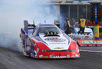 Apr 24, 2015; Baytown, TX, USA; NHRA  funny car driver Robert Hight during qualifying for the Spring Nationals at Royal Purple Raceway. Mandatory Credit: Mark J. Rebilas-