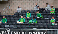 22nd August 2020; Tannadice Park, Dundee, Scotland; Scottish Premiership Football, Dundee United versus Celtic; Celtic substitutes in the Tannadice stands socially distancing