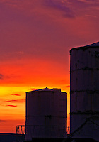Sunset and Water tanks, Manila, Philippines