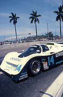 #14 Porsche 962 of Chip Robinson and Derek Bell in action at the IMSA Grand-Prix of Palm Beach, West Palm Beach, FL, June 21, 1987.  (Photo by Brian Cleary/www.bcpix.com)