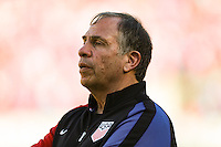 San Diego, CA - Sunday January 29, 2017: Bruce Arena during an international friendly between the men's national teams of the United States (USA) and Serbia (SRB) at Qualcomm Stadium.