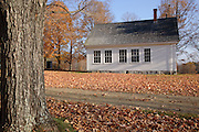 Smith Meetinghouse School during the autumn months. Located in Gilmanton,  New Hampshire USA...This schoolhouse is located next to the Smith Meetinghouse