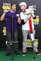 SANTA MONICA, CA, USA - FEBRUARY 15: Xpogo Stunt Team at the 4th Annual Cartoon Network Hall Of Game Awards held at Barker Hangar on February 15, 2014 in Santa Monica, California, United States. (Photo by David Acosta/Celebrity Monitor)