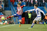 Atletico de Madrid's Luciano Vietto (l) and Real Sociedad's Aritz Elustondo during La Liga match. March 1,2016. (ALTERPHOTOS/Acero)