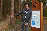 Rowan Sorrell , Swinley Forest ,  opening of the new trails  , May  2013.      pic copyright Steve Behr / Stockfile