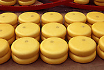 Europe, NLD, Netherlands, Province North Holland, Alkmaar, Cheesemarket, Chesse, Gouda cheese round