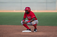 Los Angeles Angels left fielder Kevin Williams (85) during a Minor League Spring Training game against the Cincinnati Reds at the Cincinnati Reds Training Complex on March 15, 2018 in Goodyear, Arizona. (Zachary Lucy/Four Seam Images)