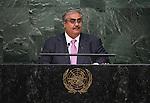 BAHRAIN<br /> H.E. Shaikh KhaHd Bin Ahmed AL KHAUFA<br /> Minister for Foreign Affairs<br /> General Assembly 70th session 25th plenary meeting<br /> Continuation of the General Debate