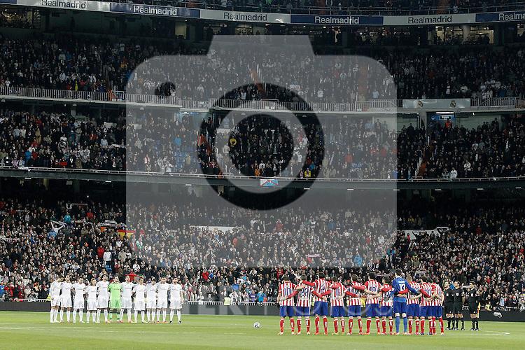 Tribute to Luis Aragones during La Copa match.February 5,2014. (ALTERPHOTOS/Acero)