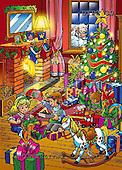 Eberle, Comics, CHRISTMAS SANTA, SNOWMAN, paintings, DTPC30,#X# Weihnachten, Navidad, illustrations, pinturas