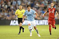 Kansas City, Kansas - July 7, 2018: Sporting Kansas City played to a 2-2 tie with Toronto FC  at Children's Mercy Park.