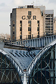 Great Western Railway building by Paddington Station.  The company was absorbed into British Rail at nationalisation in 1948.  Services from the station are now run by the private First Great Western