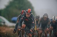 3rd October 2021, Paris–Roubaix Mens Cycling tour;  Luke Rowe during the Paris–Roubaix which is famous for its uneven cobblestone course.