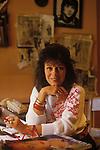 Lee Bender fashion designer. Circa 1985