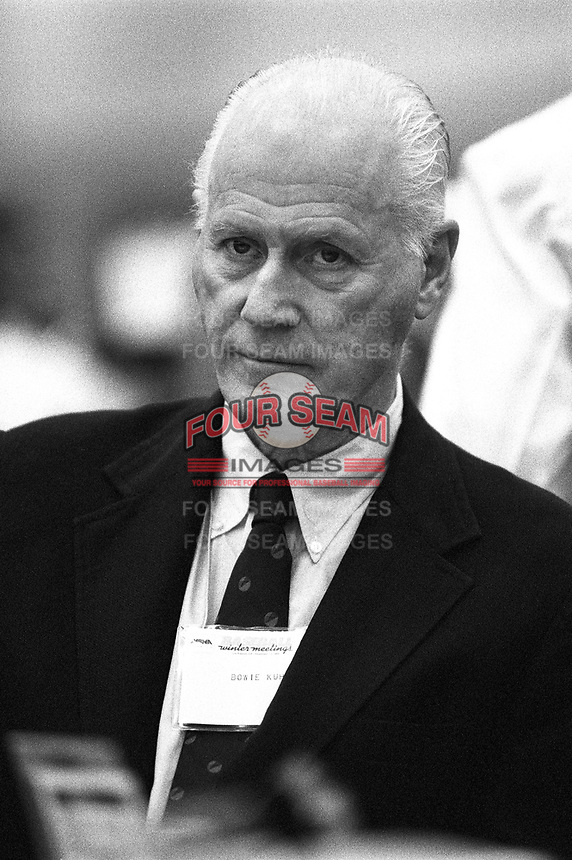 Former Major League Baseball commissioner  Bowie Kuhn at the 1995 Baseball Winter Meetings at the Biltmore Hotel in Los Angeles,California.(Larry Goren/Four Seam Images)