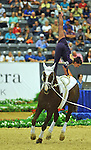 7 October 2010: Agnes Kiraly (HUN) competes during Vaulting in the World Equestrian Games in Lexington, Kentucky