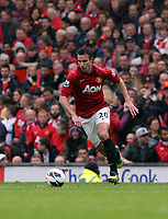 Pictured: Robin van Persie.<br /> Sunday 12 May 2013<br /> Re: Barclay's Premier League, Manchester City FC v Swansea City FC at the Old Trafford Stadium, Manchester.