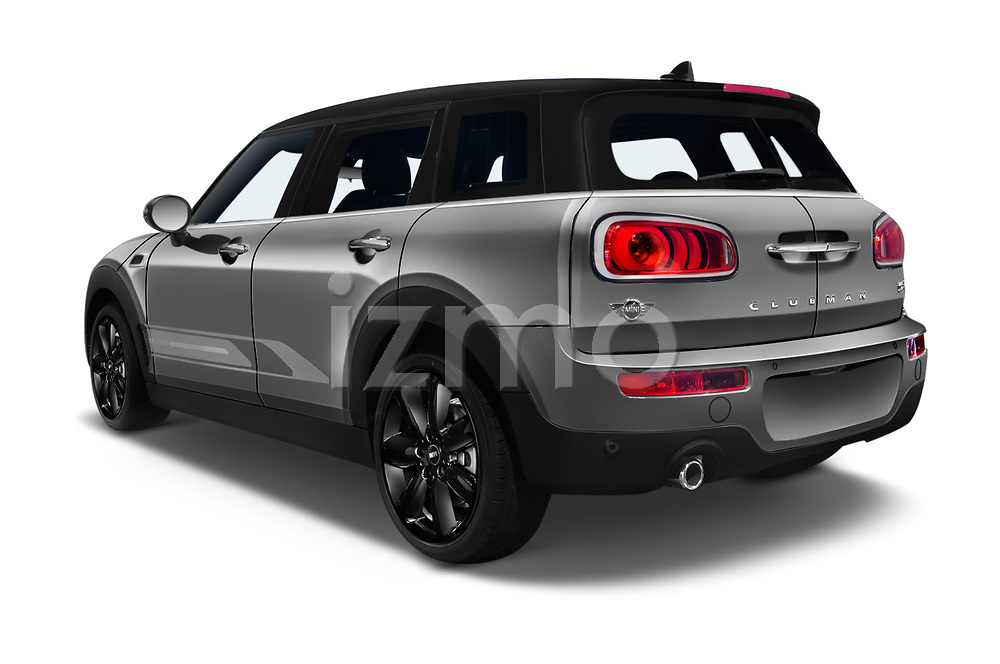 Car pictures of rear three quarter view of a 2018 Mini Clubman Cooper Kensington 5 Door Wagon angular rear
