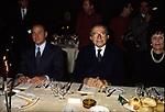 SILVIO BERLUSCONI CON GIULIO  E LIVIA ANDREOTTI<br /> HOTEL SHERATON ROMA 1994