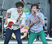 "SMG_Allstar Weekend_Mizner Park_072811_02.JPG<br /> <br /> BOCA RATON, FL - JULY 28:  Singer Zach Porter, musicians Nathan Darmody, Cameron Quiseng and Michael Martinez of Allstar Weekend perform at 19 year old Disney star Selena Gomez performs her first show on her very first world tour at Mizner Park Amphitheatre.  Boyfriend Justin Bieber, wearing a Selena Gomez concert shirt was on hand even though he tweeted and lied to his fans saying ""Good to be back in Canada"". Justin never came out but he did almost cause a riot as he and friend Sean Kingston left the building. There was complete chaos little girls overran police barricades and surrounded Beibers SUV as Justin's bodyguard / driver screamed obscenities at parents and children that got to close to the little pop star.  On July 28, 2011 in Boca Raton, Florida.  (Photo By Storms Media Group)<br />  <br /> People:   Allstar Weekend<br /> <br /> Must call if interested<br /> Michael Storms<br /> Storms Media Group Inc.<br /> 305-632-3400 - Cell<br /> 305-513-5783 - Fax<br /> MikeStorm@aol.com"