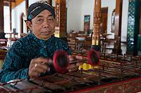 Yogyakarta, Java, Indonesia.  Xylophone Player.