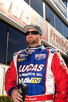 Feb. 27, 2011; Pomona, CA, USA; NHRA top fuel dragster driver Shawn Langdon during the Winternationals at Auto Club Raceway at Pomona. Mandatory Credit: Mark J. Rebilas-