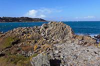 Küste bei Wrackmuseum Fort Grey, Insel Guernsey, Kanalinseln