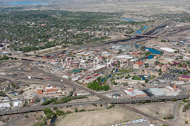 Aerial Pueblo,Colorado looking west. April 2012