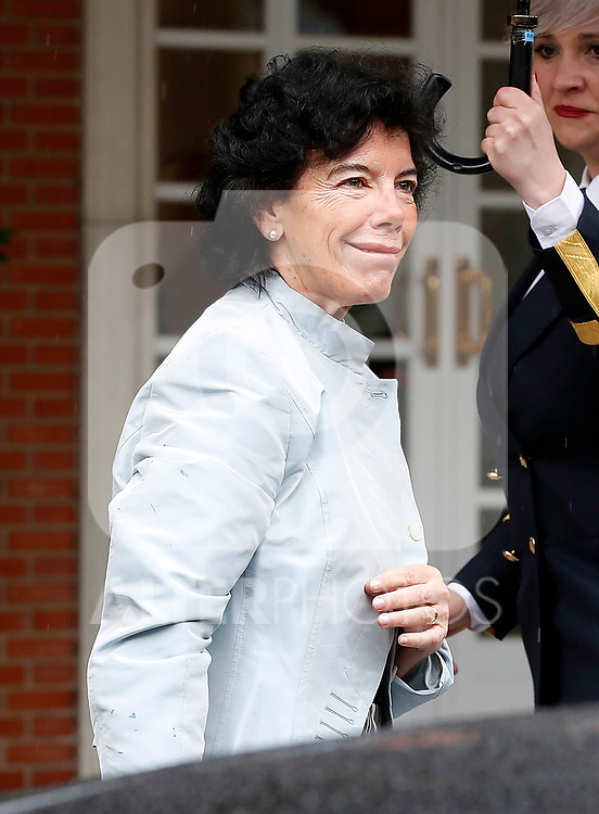 Isabel Celaa, Minister of Education, Professional Training and Spokesperson, arrives at the first Council of Ministers of the new Government of Spain, chaired by Pedro Sanchez. June 8,2018. (ALTERPHOTOS/Acero)