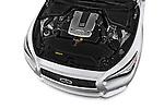 High angle engine detail of a  2014 Infiniti Q50 Sedan