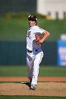 Surprise Saguaros pitcher John Curtiss (51), of the Minnesota Twins organization, during a game against the Glendale Desert Dogs on October 22, 2016 at Surprise Stadium in Surprise, Arizona.  Surprise defeated Glendale 10-8.  (Mike Janes/Four Seam Images)