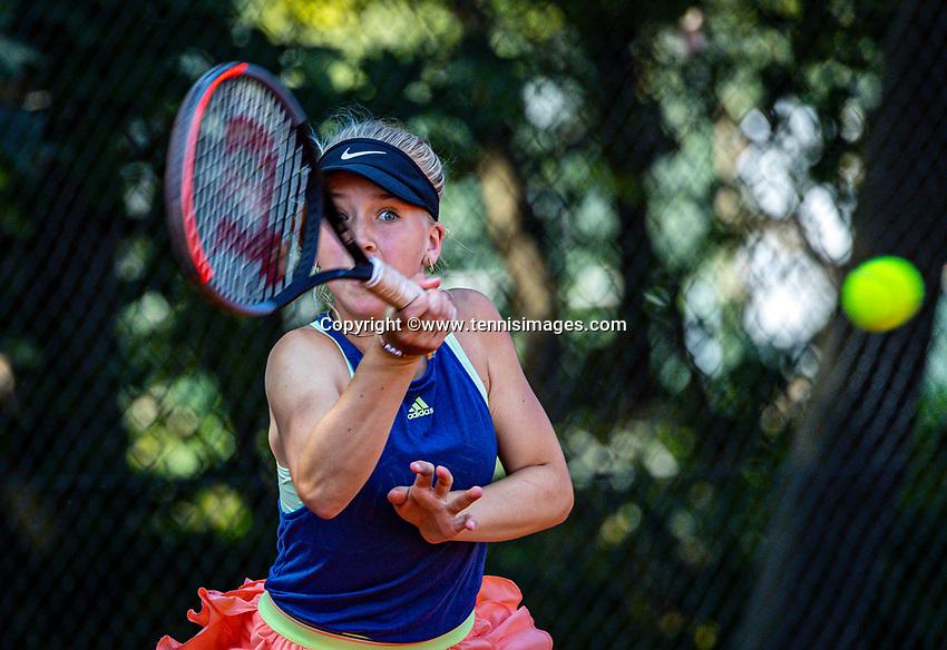 Hilversum, Netherlands, Juli 29, 2019, Tulip Tennis center, National Junior Tennis Championships 12 and 14 years, NJK, Senna van den Heuvel (NED)<br /> Photo: Tennisimages/Henk Koster
