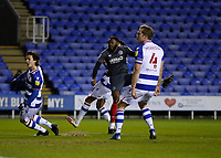 10th February 2021; Madejski Stadium, Reading, Berkshire, England; English Football League Championship Football, Reading versus Brentford; Josh Dasilva of Brentford shoots and scores his sides 2nd goal in the 86th minute to make it 2-1