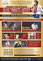 BNPS.co.uk (01202 558833)<br /> Pic: ElvisPresleyFanClubOfGB/BNPS<br /> <br /> Pictured: A poster of an Elvis event in association with the fan club.<br /> <br /> One of the world's most renowned Elvis Presley fan clubs is expected to sell for a staggering £100,000.<br /> <br /> The Official Elvis Presley Fan Club of Great Britain was established in London in 1957 and has a membership of almost 5,000 people over 60 years on.<br /> <br /> The current president, Todd Slaughter, bought it in 1967 after working as a journalist on music magazines.